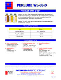 Perlube WL-68D Data Sheet
