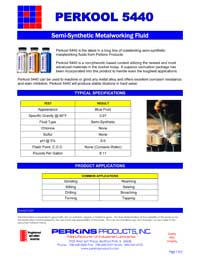 Perkins Perkool 5440 Data Sheet